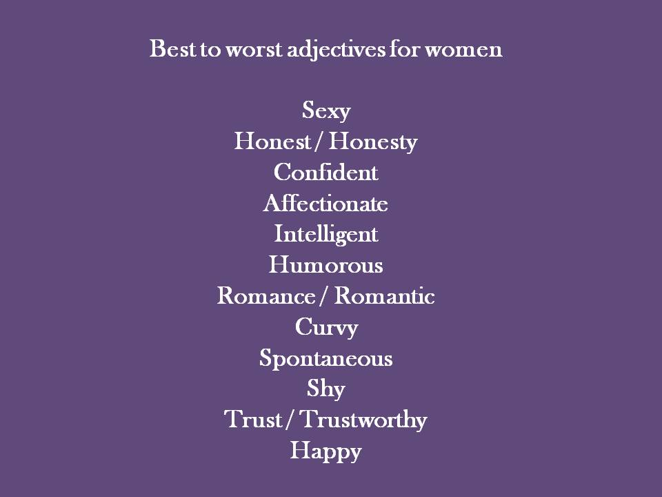 Sexy adjectives