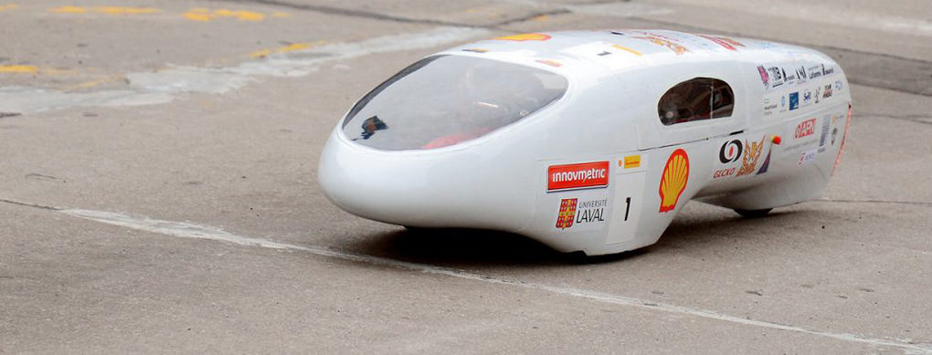 This car designed by a student could cross almost the entire U.S. on one gallon of gas