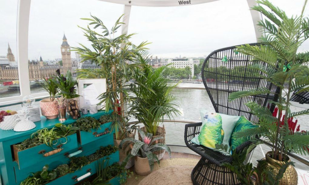 This capsule in the London Eye was transformed in a spectacular way
