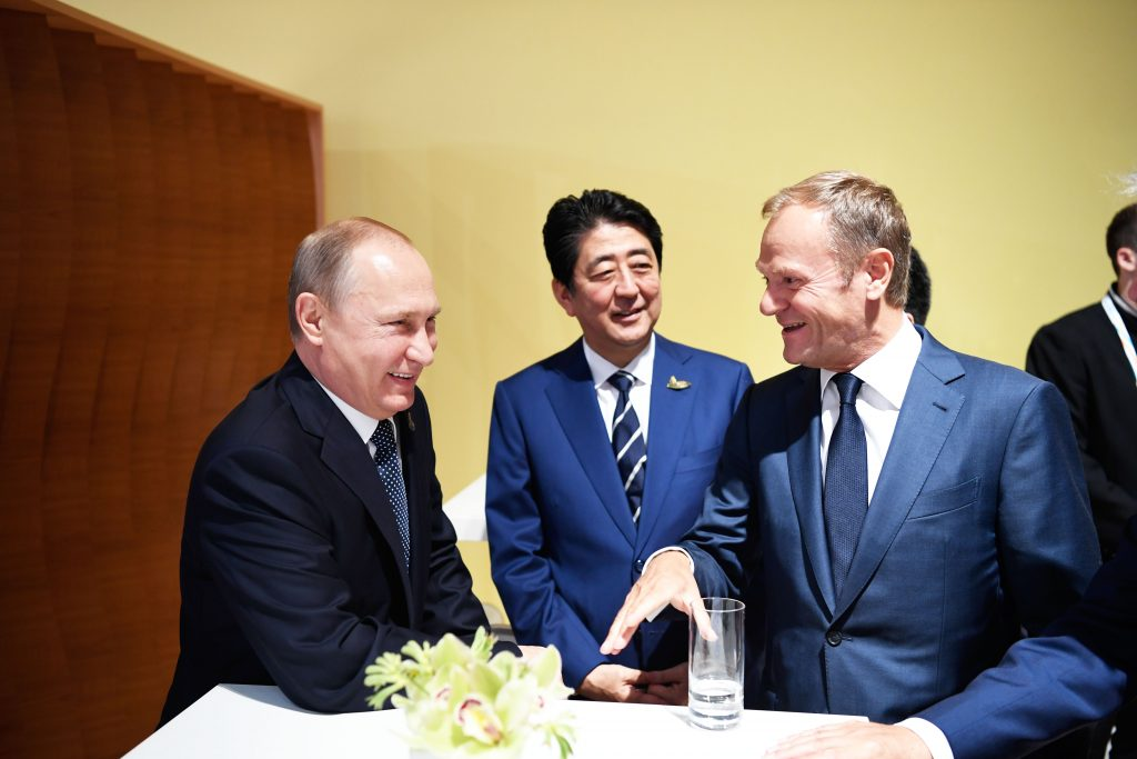 Putin-Tusk meeting G20