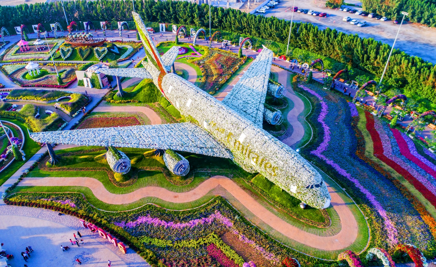The world's largest natural flower garden in the middle of the desert
